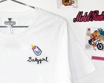 BABY GIRL (embroidered t-shirt)