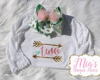 Birthday Shirt, Arrow Birthday Shirt, Toddler Birthday