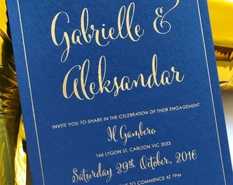 Gold foiled Wedding Invitations