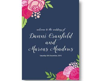 A1 Seating Chart or Welcome Wedding Sign