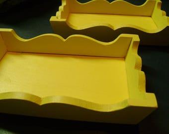 Wooden Trays Set of 2 Shabby Chic 6 x 4