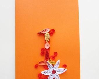 Happy first birthday card, Blank Kids 1st Birthday, Baby Shower Invitation Card, Number Card, Wedding annivesary, Annivesary card
