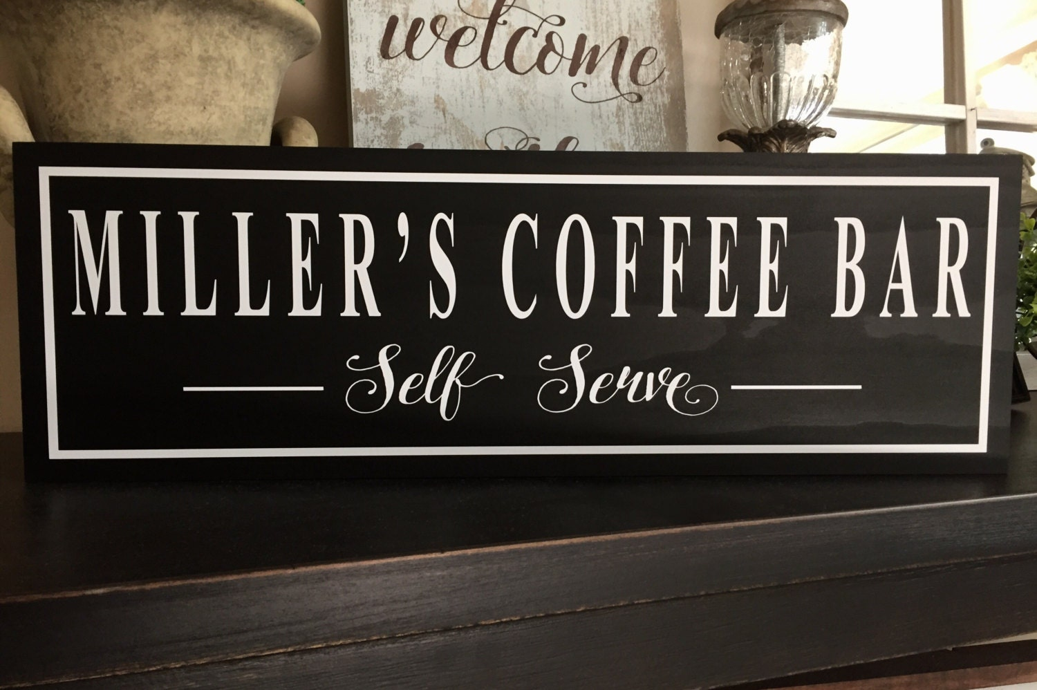 Coffee Bar Sign Coffee Sign Personalized Kitchen Sign. Beach Decore. Math Decorations For Classroom. Solar Powered Decorative Lanterns. Room Air Purifier Reviews. Decorative Wood Wall Panels. Craft Room Organization Ideas. Living Room Wall Decor. Black Room Decor