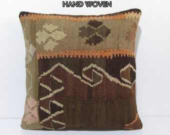 20x20 kilim pillow 20x20 decorative pillow 20x20 pillow cover 20x20 pillow case 20x20 throw pillow covers 20x20 kilim pillow cushions B2406