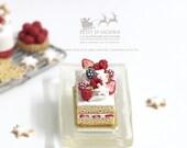 Frasier Gateaux -Xmas- in 1/12th miniature dollhouse Christmas Cake