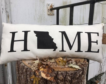 State Home Accent Pillow Decorative Pillow 8.5x22