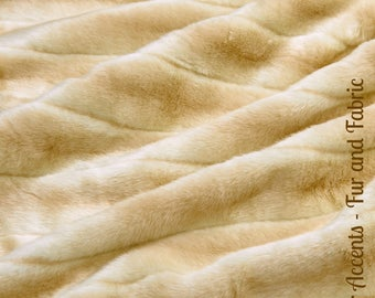 Faux Fur Tan Stripe Mink - Light Brown or Tan - Fabric - Shag, Crafts, Sewing, Baby & Pet  Photo Props
