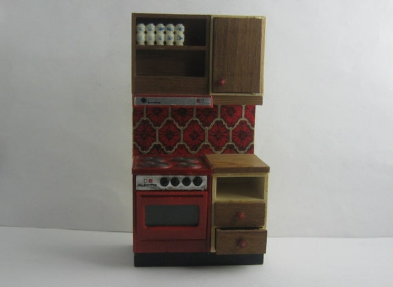 70s doll house furniture lundby kitchen dollhouse kitchen for 70s wooden couch
