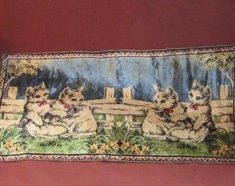 Vintage Tapestry Cat Rug