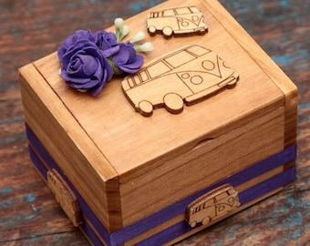 Ring bearer personalised  box vw camper van theme