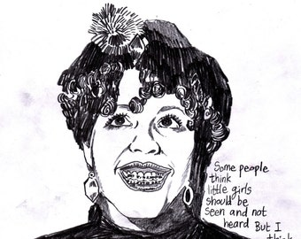 "Poly Styrene ""Some people think little girls should be seen and not heard"" A3 Print"