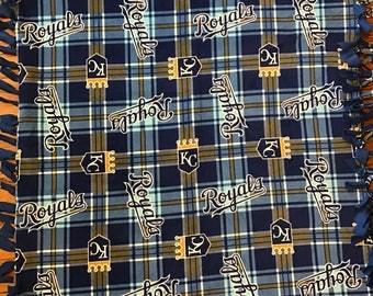 KC Royals Fleece Tie Blanket