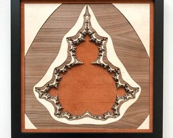 "Layered Wood: Fractal Wall Art (12"" x 12"")"
