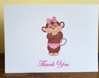 Baby Shower Thank You Cards, Baby Shower Thank You Cards for Girl, Thank You Cards