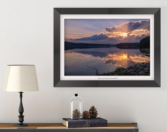 Living Room Wall Art - Sunset Photography - Nature Print - Sunset Art - Ohio Photography Wall Decor - Landscape Print - Lake House Wall Art