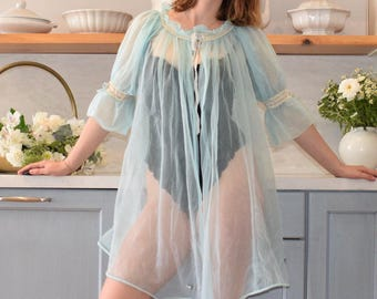 70's Angelic Blue Negligee
