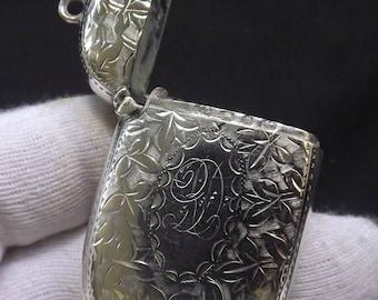 Antique Sterling Silver Vesta Case by Joseph Gloster 1907