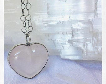 Rose Quartz Heart Pink Crystals Opening your Heart to Loving yourself more & receiving Love from others enabling you to have more to give