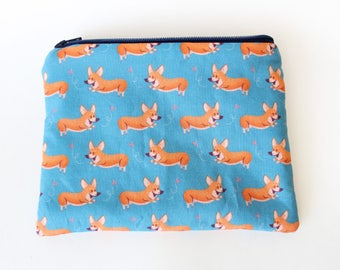 Corgi Zipper Purse - Zipper Pouch - Coin Purse - Zipper Bag
