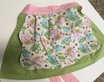Handmade Little Girl Apron - Small  3/4 Toddler/Little Helper/Little Mommy