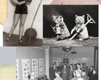 Original Collage Art Surrealist Print Photo Montage Lowbrow Artwork Americana