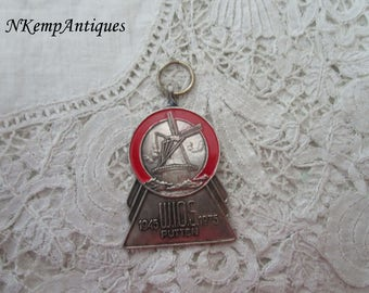 Windmill enamel medal with ribbon