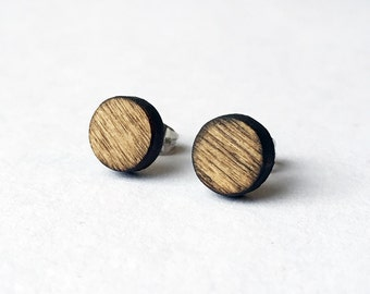Wood Stud Earrings - Laser Cut Jewelry, Natural Jewelry, Wood Earrings, Wood Jewelry, Joanna Gaines, Gift for Women, 5th Anniversary Gift