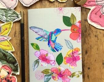 Pocket notebook- Hummingbird