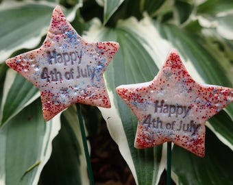 Miniature Independence Day Fairy Garden Sign, Happy 4th of July Fairy Garden Sign, USA Miniature Fairy Garden, Patriotic Fairy Garden