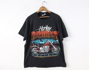 Vintage XLARGE 1987 Harley Davidson Speed Limit Seventy Graphic T-Shirt