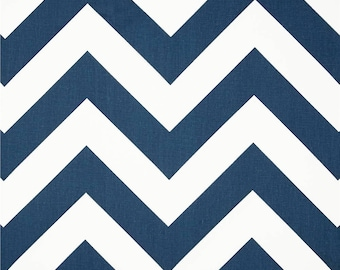 Navy Chevron Fabric by the YARD Wholesale yardage home decor upholstery Premier Prints Zippy premier blue white large zigzag SHIPsFAST!