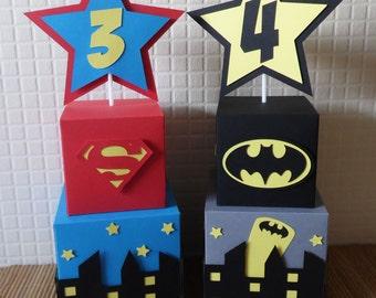 Superhero Skyline Table Centrepieces