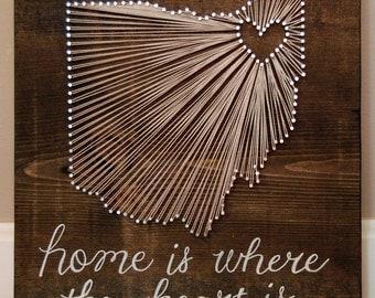 Ohio String Art Etsy