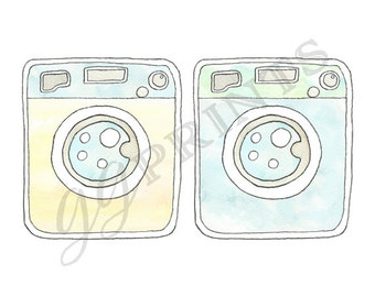 Washer And Dryer Clipart washer dryer | etsy