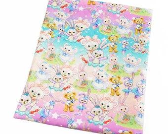 sweet  little animals  fabric