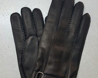 Men's leather gloves/elegant style/soft leather/100 % nappa/gloves for him/best gift,hand-sewn/driving car/winter gloves/wool lining