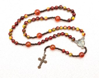 Vintage Wrist Rosary with Glass Beads