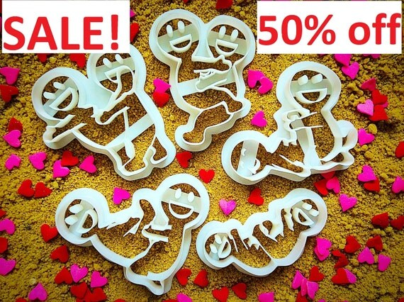 Erotic cookie cutters