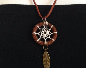 White Dreamcatcher Necklace