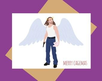 Nicolas Cage Christmas card - Merry Cagemas