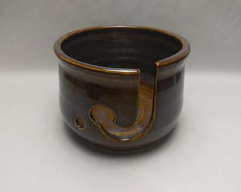 YARN BOWL - Iron Lustre - Hand Made Wheel Thrown Ceramic #701