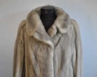 Vintage MINK FUR short coat , Deluxe fur coat ,Rare mink fur color ,  fur jacket .....(192)