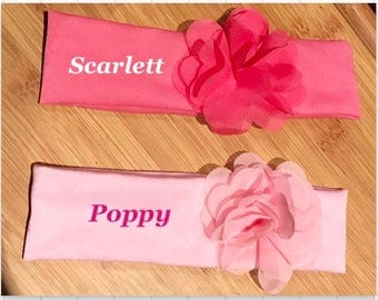 Personalised HANDMADE bow. Add a name for free.