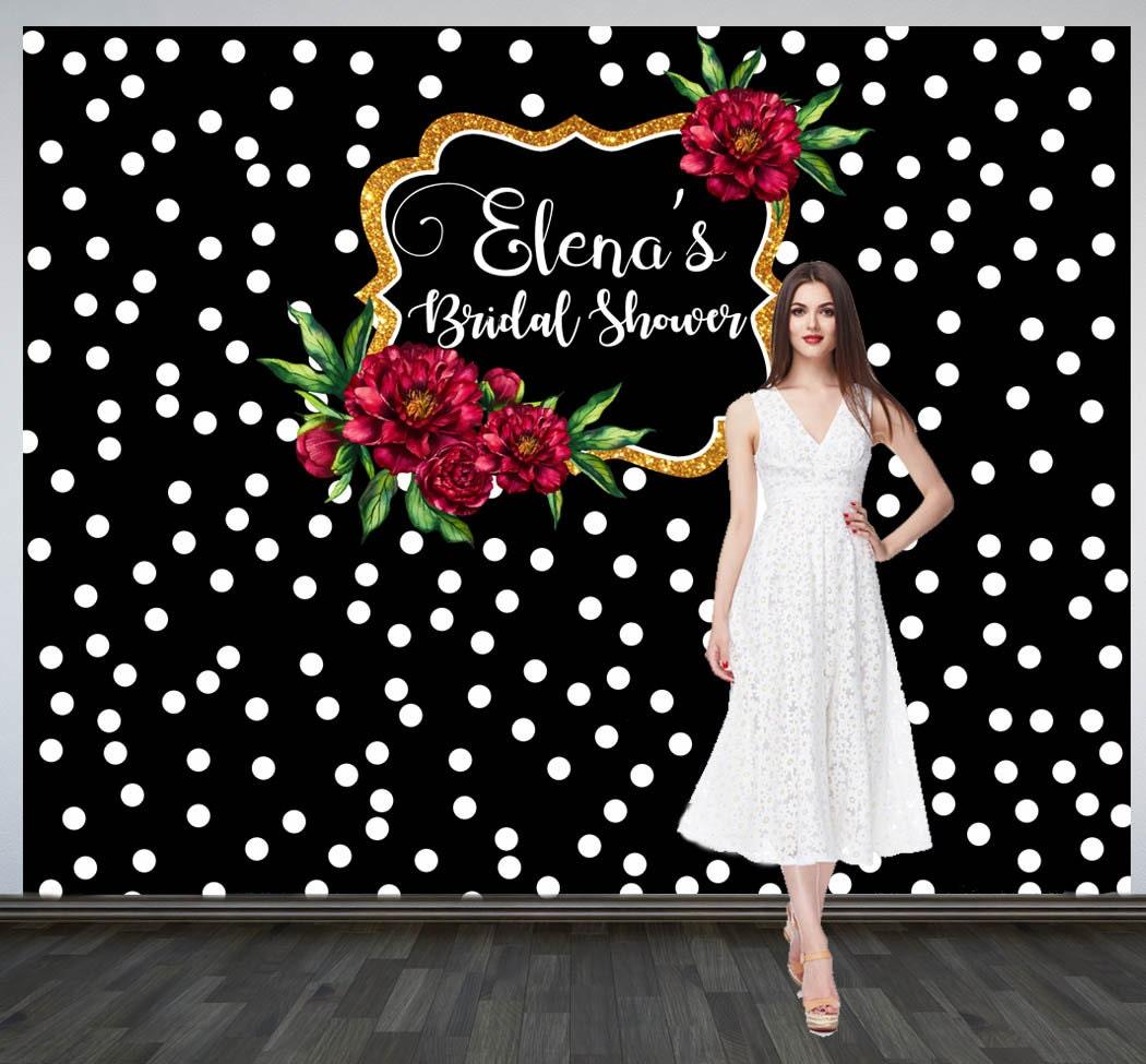 Bridal Shower Photo Backdrop Custom Wedding Party Backdrop