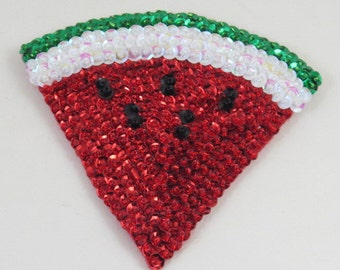 Glass Beaded Magnet Fruit Magnet Watermelon Magnet Felt Magnet Kitchen Magnet Refrigerator Magnet