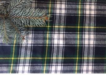 Christmas Table runner, Green Tartan Wedding table runner, Flannel Plaid Table runner, Graduation party day table runner Pattern #2