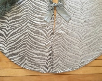 christmas tree skirt modern tree skirt chenille tree skirt silver tree skirt - Silver Christmas Tree Skirt