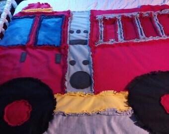 Fleece Fire Truck