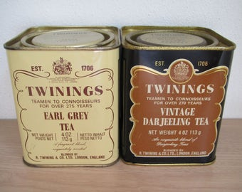 Twinings Tea Tins
