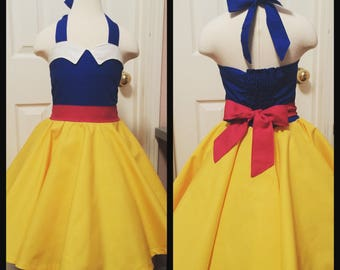 Snow White Inspired Twirl Dress